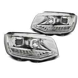Coppia di fari DRLvera luce diurna con tube light e DTS Volkswagen T6 2015- Chrome