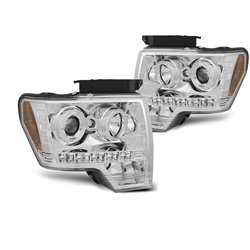 Fari Angel Eyes Ford F150 MK12 2008-2014 Chrome