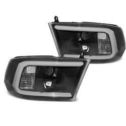 Fari Tube Light Dodge Ram 09-18 Neri