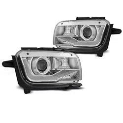 Coppia di fari a Led Tube Light Chevrolet Camaro 09-13 Chrome