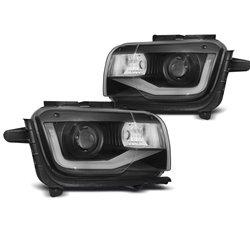 Coppia di fari a Led Tube Light Chevrolet Camaro 09-13 Neri