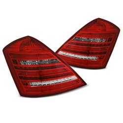 Coppia fari Led DTS posteriori Mercedes Classe S W221 05-09 W222 Look rossi bianchi