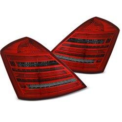 Coppia fari Led DTS posteriori Mercedes Classe S W221 05-09 W222 Look rossi fume