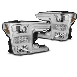 Coppia di fari con tube light e DTS Ford F150 MK13 17-20 Chrome