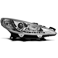 Fari Led stile luce diurna Peugeot 207 06-12 Chrome