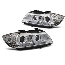 Fari Xenon Led 3D DRL e AFS BMW Serie 3 E90 / E91 09-11 Chrome