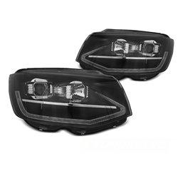 Coppia di fari DRLvera luce diurna con tube light e DTS Volkswagen T6 2015-2019 Neri