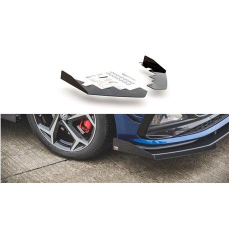 Flaps aerodinamici inferiori Volksvagen Polo GTI Mk6 2017- nero opaco
