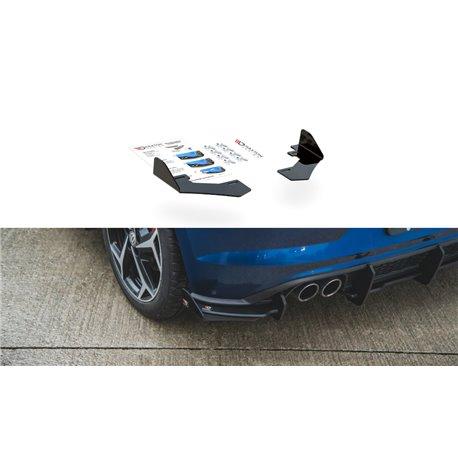 Flaps aerodinamici posteriori Volksvagen Polo GTI Mk6 2017- nero lucido