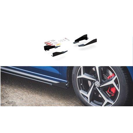 Flaps aerodinamici laterali Volksvagen Polo GTI Mk6 2017- nero opaco