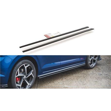 Diffusori minigonne laterali Volksvagen Polo GTI Mk6 2017- nero opaco