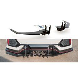Sottoparaurti estrattore Racing posteriore Honda Civic X Type R 2018- nero