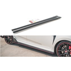 Lama sottoporta racing V.2 Honda Civic X Type R 2017- nero