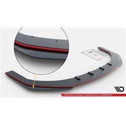 Sottoparaurti anteriore+ Flaps Toyota GR Yaris Mk4 2020- nero e rosso + flaps lucidi