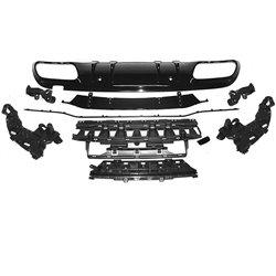Estrattore diffusore posteriore Mercedes W205 2018- Sport Style nero lucido