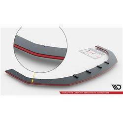 Lama sottoparaurti racing V.3 Volkwagen Golf VI GTI 2008-2012 Nero e rosso