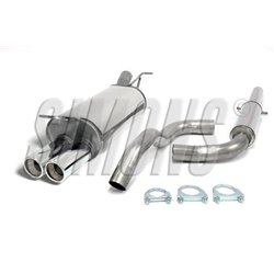 Sistema di scarico in acciaio Inox 2x80 per Audi A3 8L /Volkswagen Golf IV /New Beetle