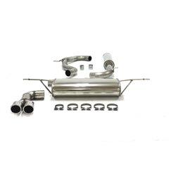Sistema di scarico in acciaio Inox 2x80 per Volkswagen Golf VII 1.2 + 1.4TSI
