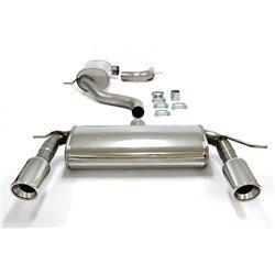 Sistema di scarico Duplex in acciaio Inox 1x100 per Volkswagen Golf V / VI / Audi A3 8P