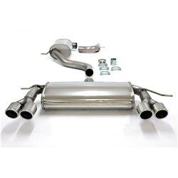 Sistema di scarico Duplex in acciaio Inox 2x80 per Volkswagen Golf V / VI / Audi A3 8P