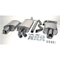 Sistema di scarico Duplex in acciaio Inox 1x100 per Audi A4 B6 Quattro