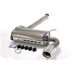 Sistema di scarico in acciaio Inox 1x100 per Mazda MX-5 I 96-98