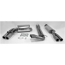 Sistema di scarico in acciaio Inox 2x70 per Volvo V70 II R tipo S / S60 IR tipo R