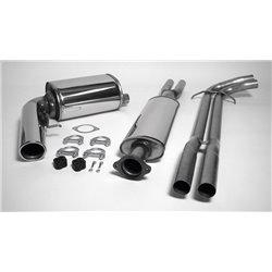 Sistema di scarico in acciaio Inox 1x100 per Volvo S60 2002-2010