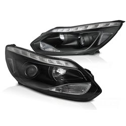Fari Led stile luce diurna Ford Focus MK3 11-14 Chrome