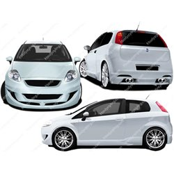 Kit estetico completo Fiat Grande Punto 3p. Magik