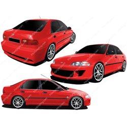 Kit estetico completo Honda Civic V 92-95 4p. Bang