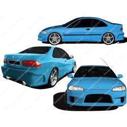Kit estetico completo Honda Civic V 92-95 Coupe Demolition