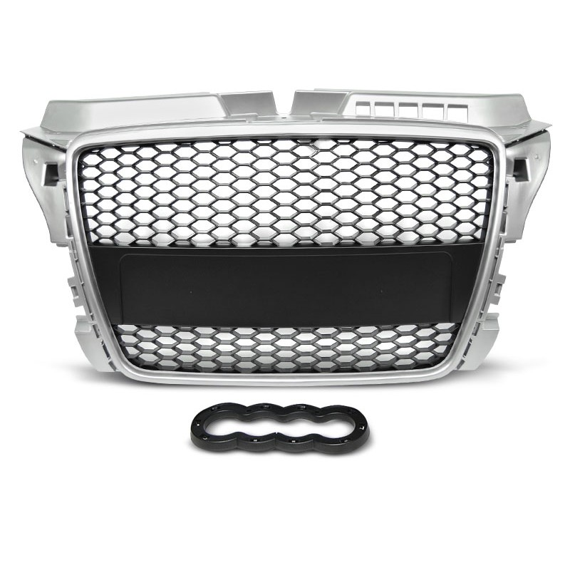 audi a3 8p rs type 08 12 griglia calandra anteriore silver. Black Bedroom Furniture Sets. Home Design Ideas