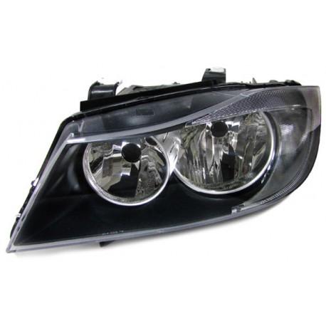Faro anteriore destro nero BMW Serie 3 E90 / E91 05-08