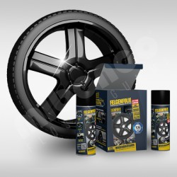 Kit gomma liquida spray per cerchioni nero lucido