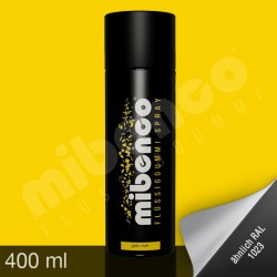 Gomma liquida spray per wrapping giallo opaco, 400 ml
