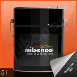 Gomma liquida spray per wrapping arancione lucido, 5 l