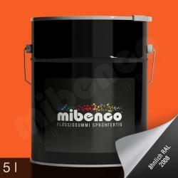 Gomma liquida spray per wrapping arancione opaco, 5 l