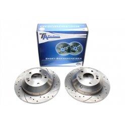 Dischi Freno posteriori sportivi forati e baffati per Hyundai Santa Fee / Grand Santa Fe / Kia Sorento II
