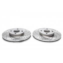 Dischi Freno anteriori sportivi forati e baffati per Mazda 323 / MX3 / MX5