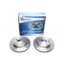 Dischi Freno anteriori sportivi forati e baffati per Mazda 626 / MX6 / Premacy / Xedos / Ford Probe