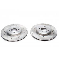 Dischi Freno anteriori sportivi forati e baffati per Mini R50 - R53 - R52