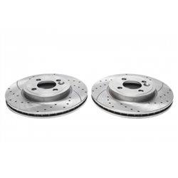 Dischi Freno anteriori sportivi forati e baffati per Mini One R56 /Cooper R55/R56/R57/R58/R59