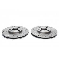 Dischi Freno posteriori sportivi forati e baffati per Citroen GS / Opel Astra F/G / Zafira A