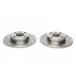Dischi Freno posteriori sportivi forati e baffati per Opel Corsa C / Combo / Tigra Twintop