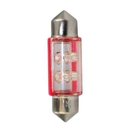 Diodo LED L043 C5W 4LED 3mm rosso