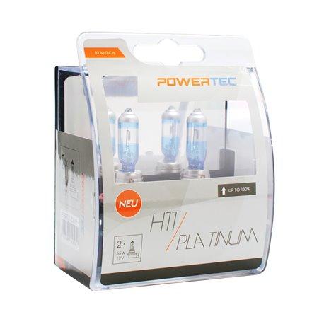 Lampada alogena Powertec Platinum + 130% H11 12V DUO