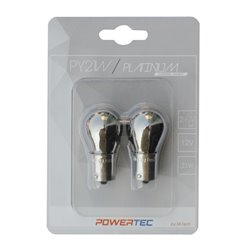 Lampada alogena Powertec PY21W S25 12V 21W BA15s Chrome
