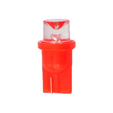 Diodo LED L006 W5W concavo rosso