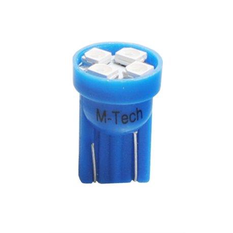 Diodo LED L017 W5W 4xLed blu